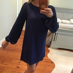 Blue long sleeved dress